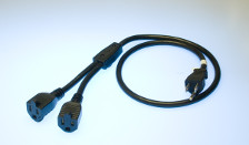 2 Nema Plug Y Splitter Power Cord